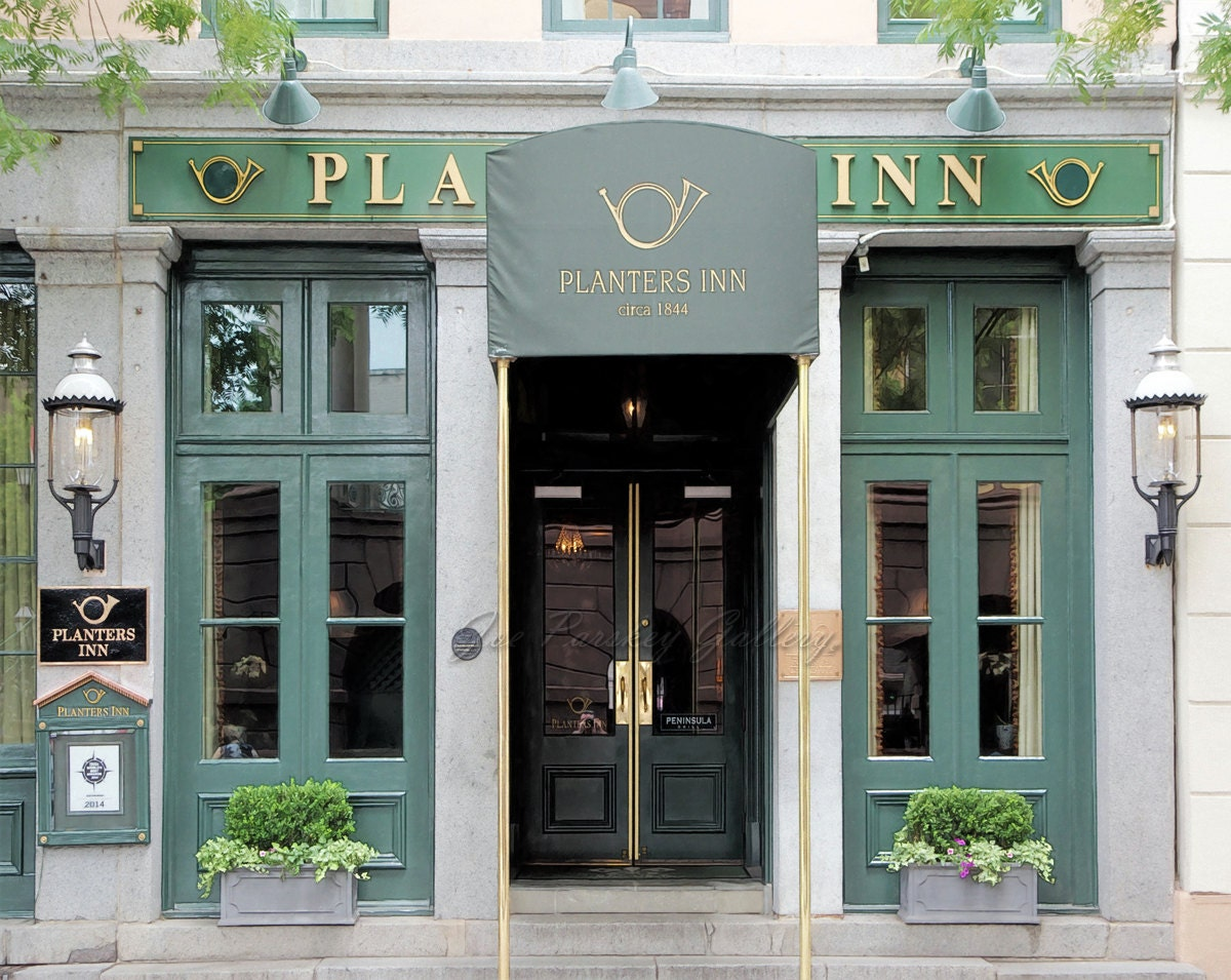 Planters Inn Charleston Sc Photo Art Southern Charm Etsy