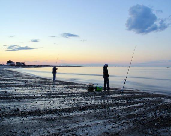 Sunset Fishing At Egypt Beach Scituate Massachusetts Etsy