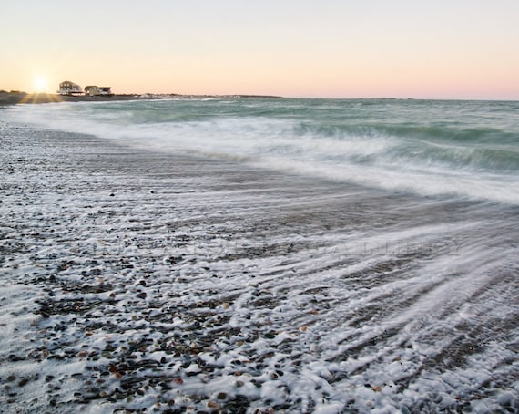 December Sunset Beauty Egypt Beach Scituate Ma South Etsy