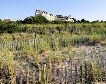 Dune fences, Ocean House, Watch Hill, Rhode Island, beach photography, coastal, New England, scenery, East Coast, archival print, signed