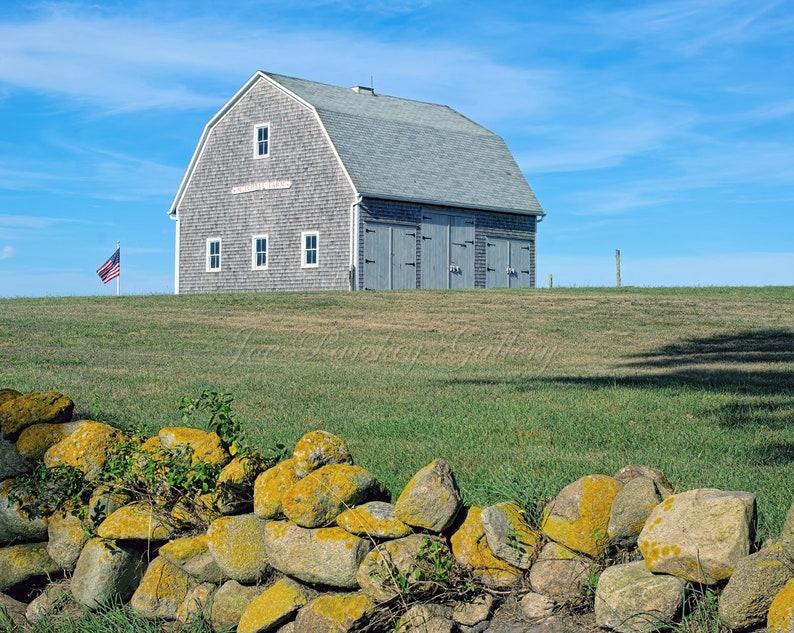 Mitchell Farm Block Island Rhode Island stone wall image 0
