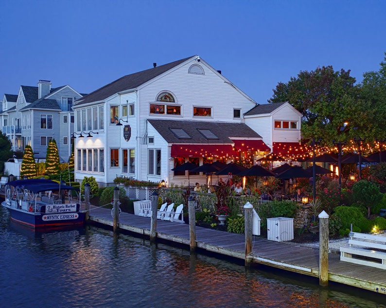 Evening at S and P Oyster Restaurant and Bar Mystic CT image 0