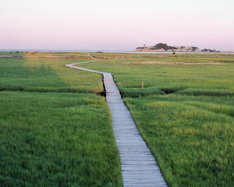 Walkway to the Spit boardwalk Scituate MA South Shore image 0