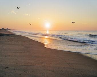 Sunrise at Misquamicut State Beach, Westerly, Rhode Island, beach, sunrise photos, South County, RI, New England, archival print signed