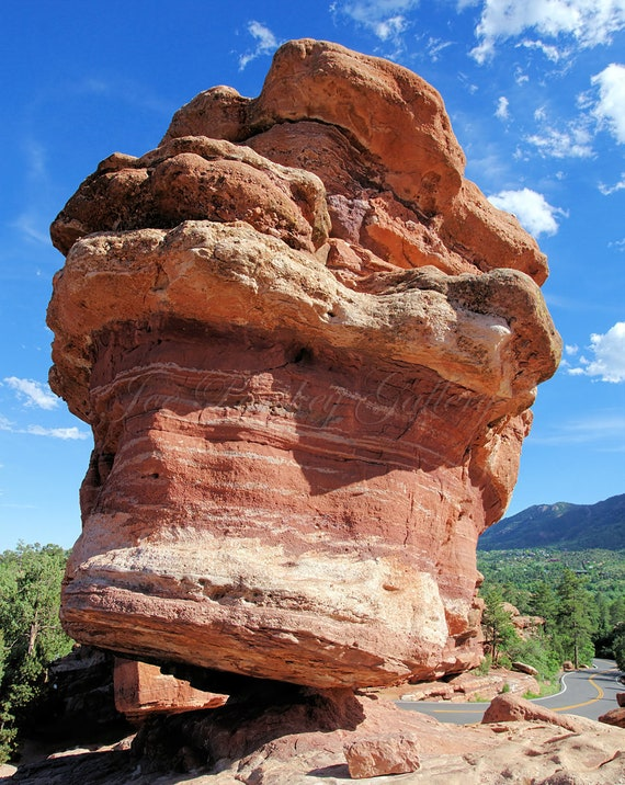 Balance Rock Garden Of The Gods Park Colorado Springs Co Natural Wonder Rock Formation Geology Awesome Archival Signed Print