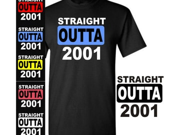 16 Birthday Shirt Straight Outta 2001 T Girl Or Boy Gift For Him Her Years Old Party 6