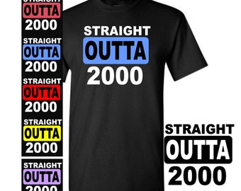 17 Birthday Shirt Straight Outta 2000 T Girl Or Boy Gift For Him Her Years Old Party 6