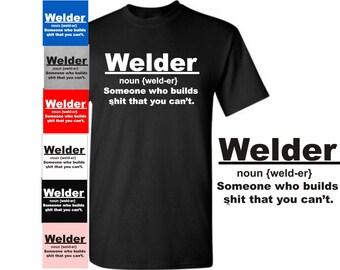 482b8c41a Welder Shirt, Noun Shirt, Men's Funny T Shirts Welder Noun Someone Who  Builds Tee, Welding Definition, Humor Shirt Fathers Day Gift Tee 30