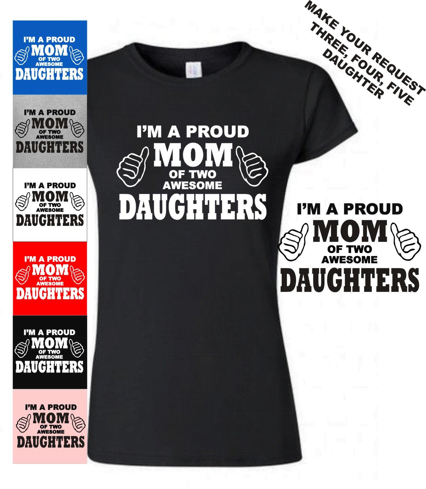 942de5eba Mom Daughter T-Shirt Proud Mom Shirt Mother Daughter Tee | Etsy
