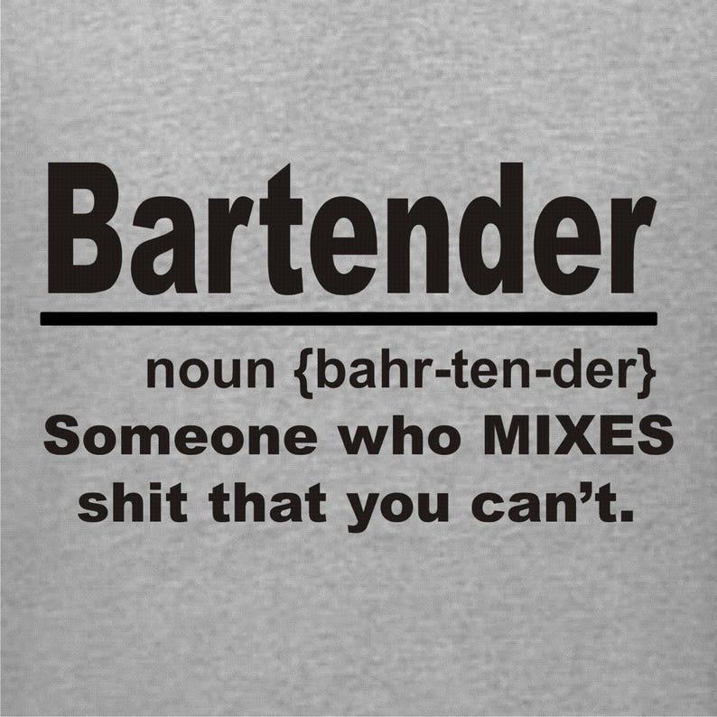 fd21e331 Bartender T-Shirt Noun Shirt Gift for Bartender Funny Woman | Etsy