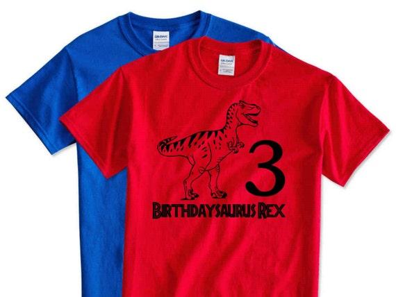Kids Dinosaur Birthday Shirts Birthdaysaurus Rex 3 Years Old