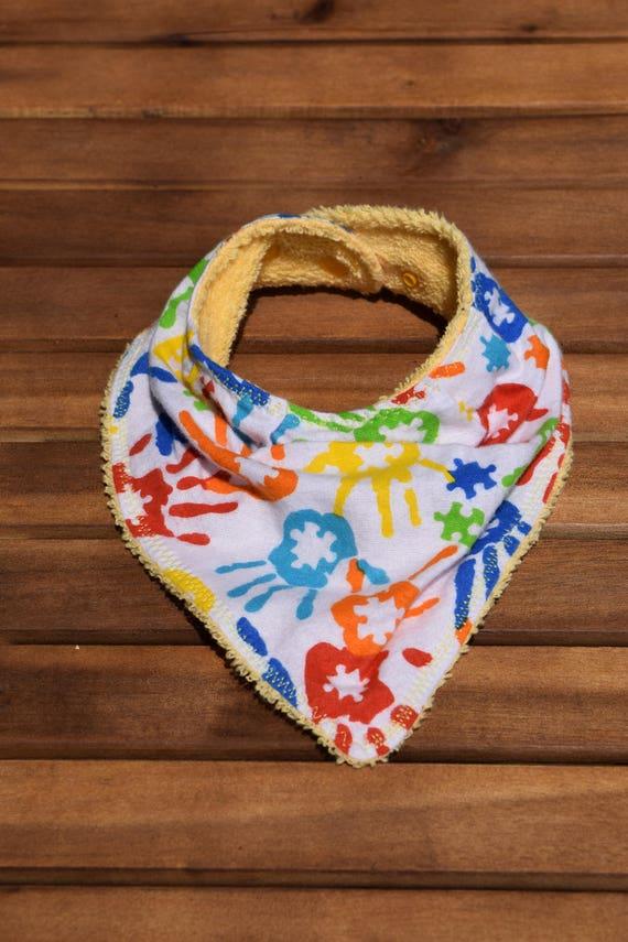 Puzzle de l'autisme bavoir bandana imprimé à la main