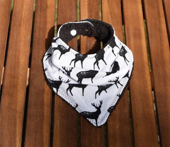 Bavoir bandana pour bébé cerf