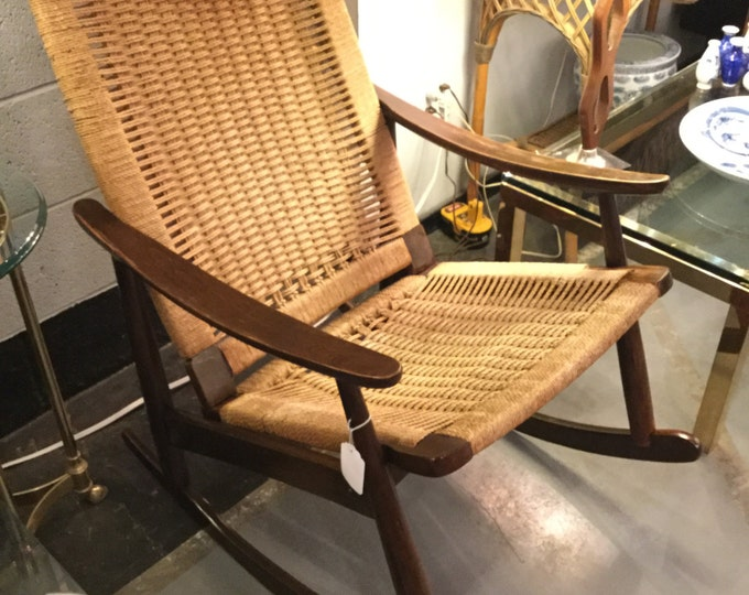 Yugoslavian Rope Rocker in the style of Hans Wegner