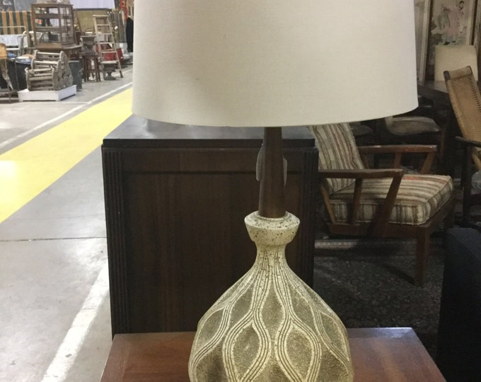 Mid Century Ceramic Lamp with new Shade