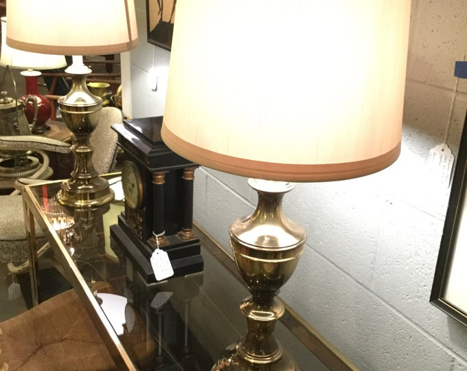 Pair of solid Brass Baluster form Lamps MidCentury by Stiffel