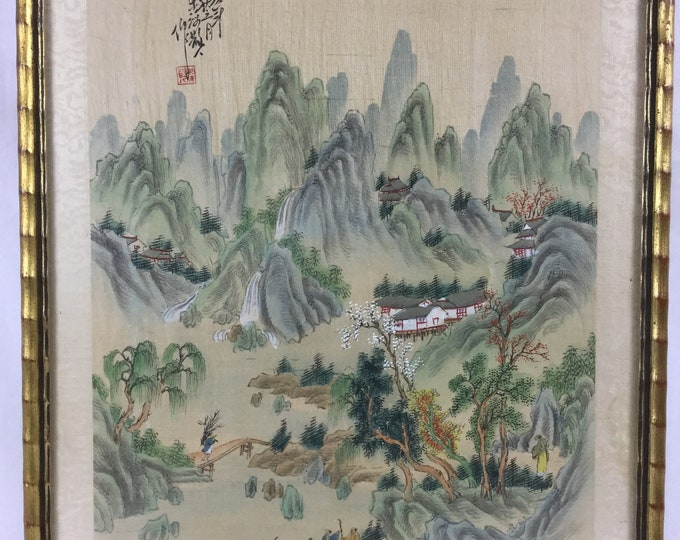 EXCLUSIVE: Attributed to Wen Rengai Hand Painted on Silk Late 16th Century After Song and Yuan Masters