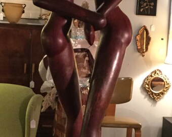 SOLD: Mid-century Solid Rosewood Sculpture