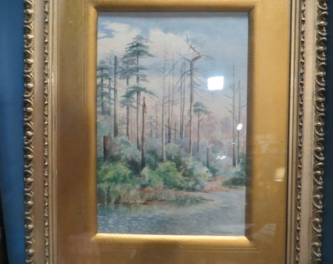 Watercolor 1890's by Adelaide Hanscom