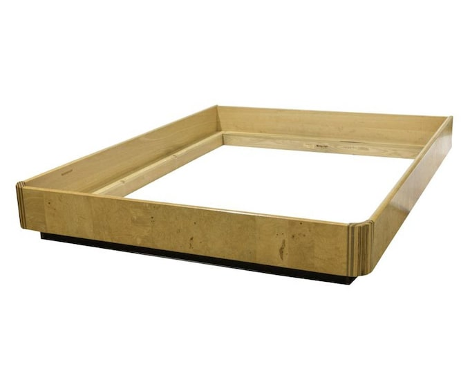 Ca. 1970s Henredon Ash Burl Queen Size Platform Bed Frame