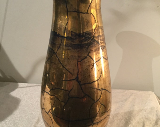 Ca. 1930s St. Prex French Swiss 24K Gold Vase