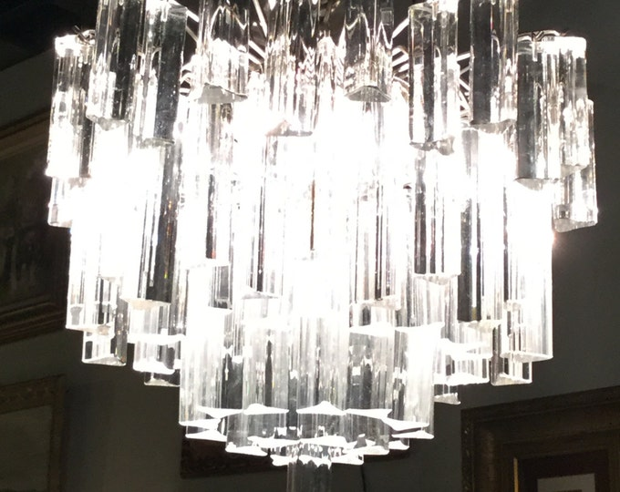 REDUCED FROM 3800 :Camer Murano Chandelier 5 Tier Chandelier withTrietre Crystals