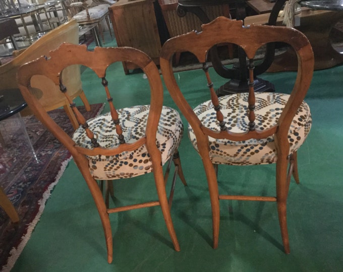 Gorgeous 19th Century Pair of Biedermeier Chairs