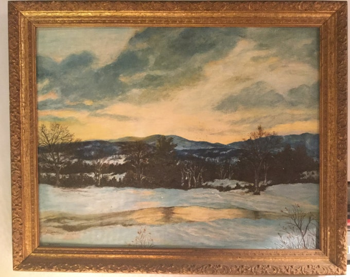Signed B.T. Antey Hudson Valley Painting