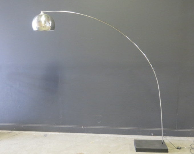 Chrome Arc Lamp, Ca. 1970s. George Kovac (attr.)