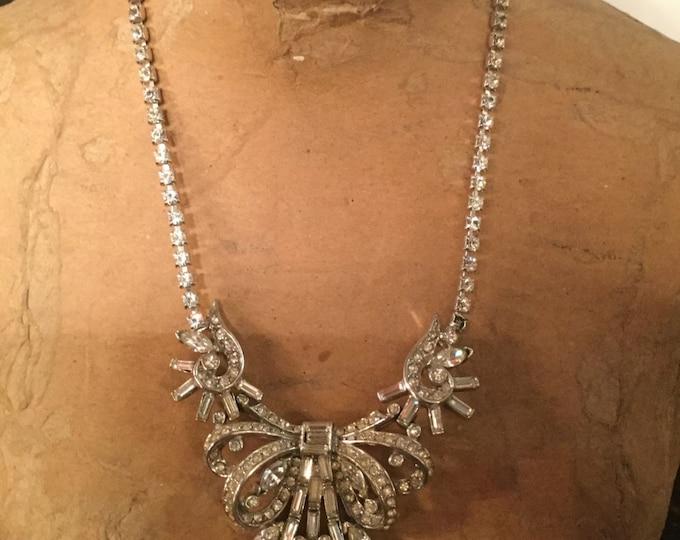 Ca.1930s Mazer  Art Deco style Swarovski Crystal Necklace