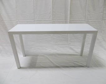 Lane sofa table etsy 1950s lane sofa console table with parsons style legs in solid birch lacquered white watchthetrailerfo