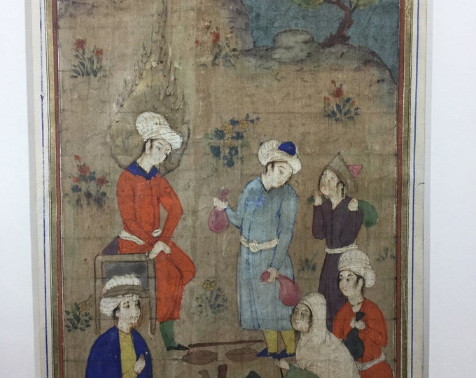EXCLUSIVE: Late 17th Century Safavid Dynasty Persia Scene of Offering