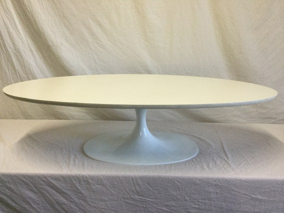 Saarinen Style Elliptical Cocktail Table Repowdercoated Base