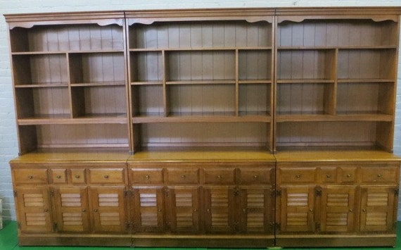 SOLD - Ca. 1960s Heywood- Wakefield Solid Maple 6 piece Unit Book case