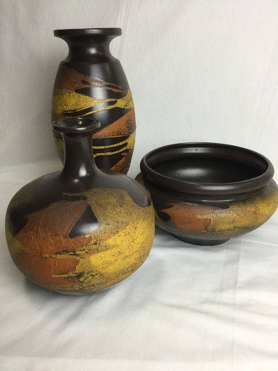 "Ca. 1970s Collection Of Royal Haeger ""Earth Wrap"" Pottery"