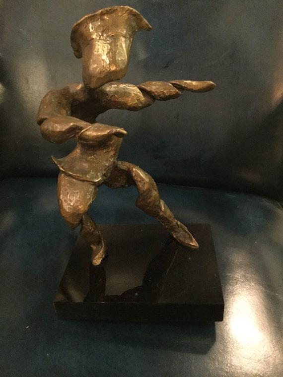 Bronze Dancer on rotating Base Signed SIP