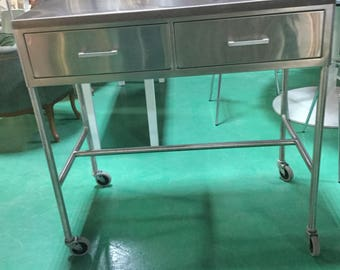 Stainless Steel High Quality Industrial Bar Cart (qty 2 Available)