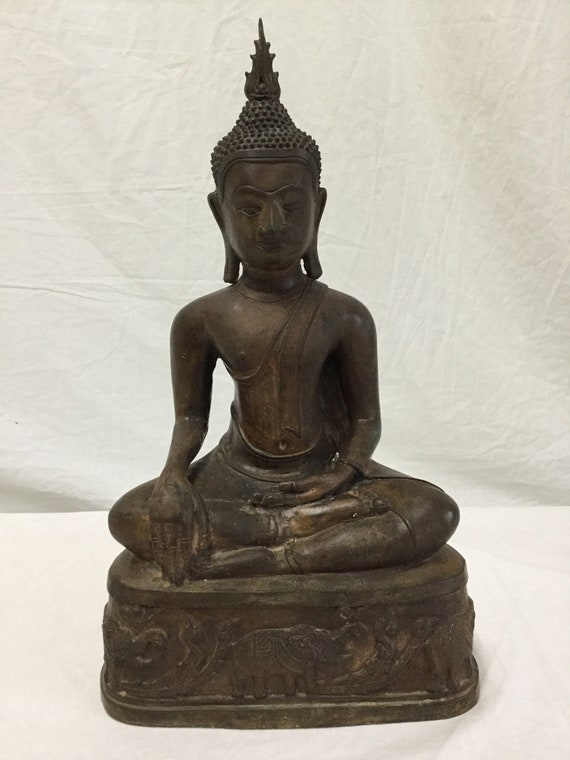 15th- 16th century (Early Ming Dynasty) Ayutthaya Bronze Seated Buddha