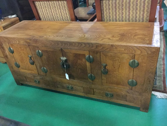 SOLD: Late 19th century Camphor wood Chinese side Board