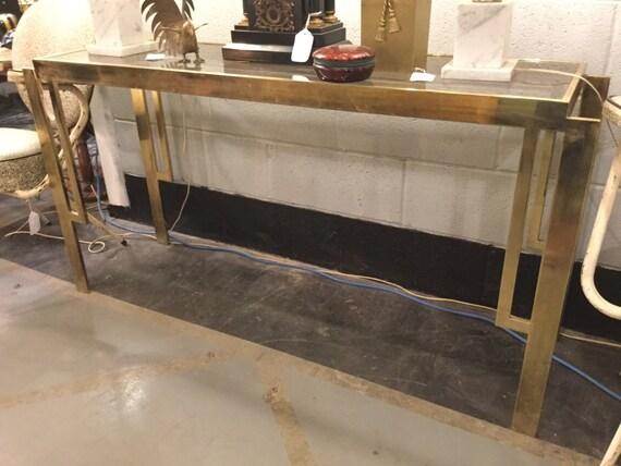 SOLD: Maison Jansen Style Brass Console Table Mid century