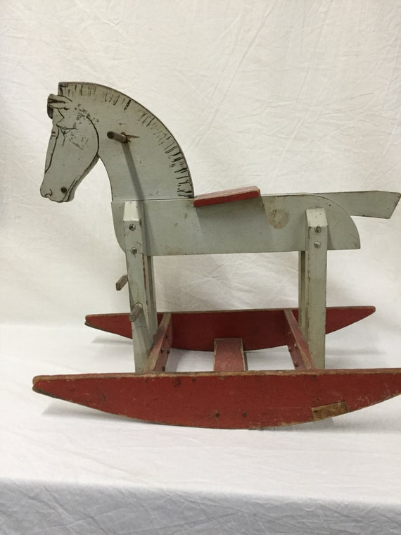 Early American Primitive Rocking Horse