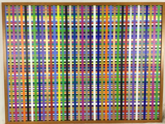 SOLD - Herman Kahan 2006 Colorline Series Acrylic on linen Painting