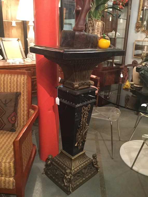 Late 19th century Marble and Bronze Ormolu Pedestal