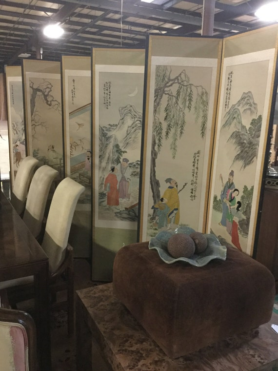 SOLD - EXCLUSIVE: Amazing Ten Panel Late 18th-19th century Handstitch Silk Chinese Screen