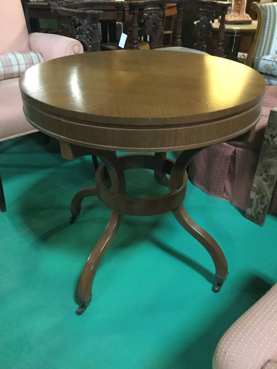 SOLD - 28 inches Round  Mahogany Table