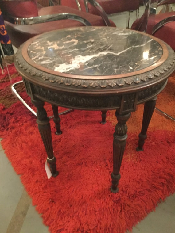 SOLD: French Directoire Round Marble Table