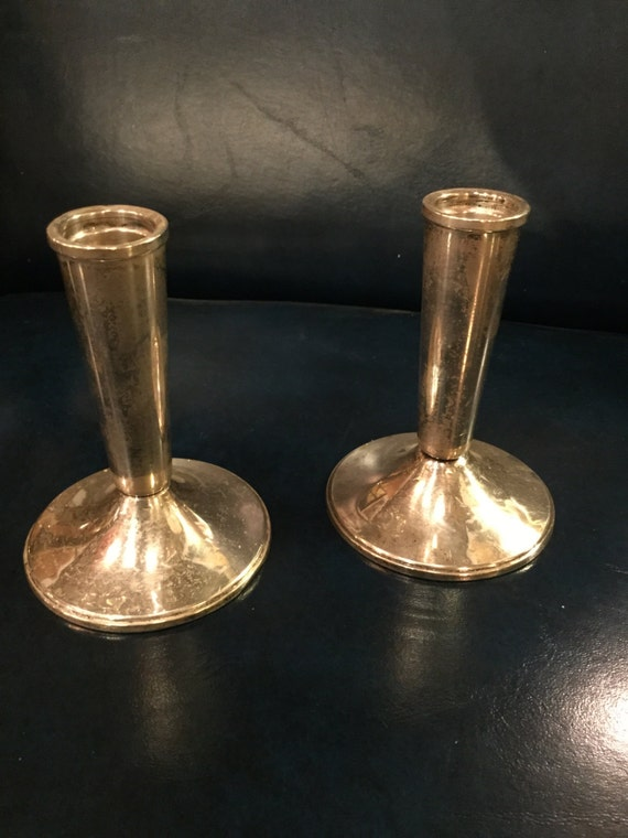 SOLD - Pair of Sterling Candlesticks by Duchin Creations
