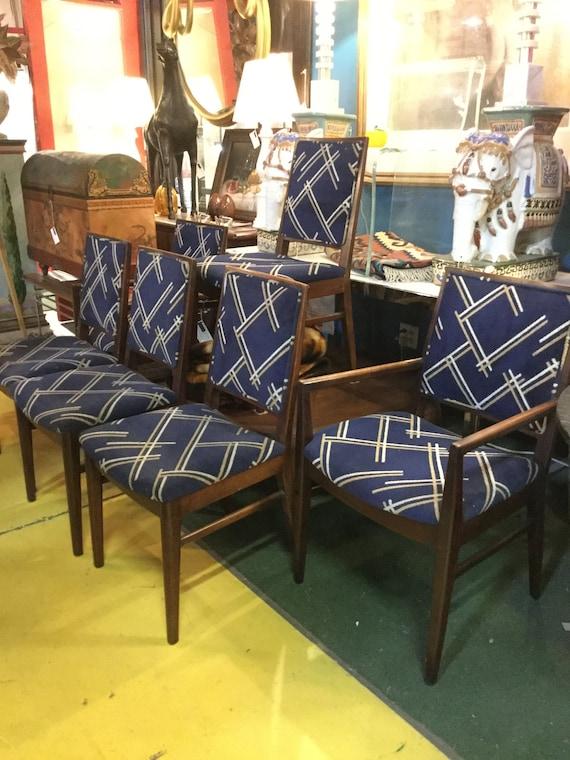Set Of Six 2 Arm Chairs 4 Side Chairs Original John Stuart Etsy