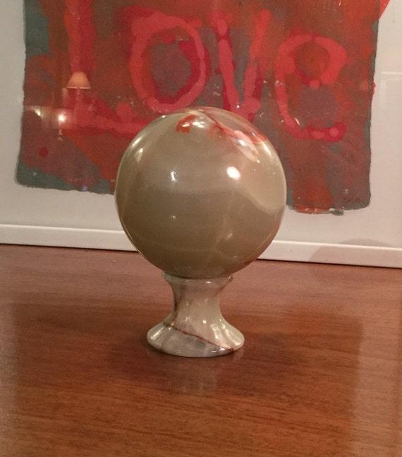 Onyx ball on pedestal