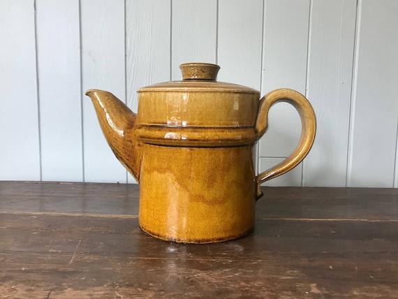 Rare Dark Blue Teapot Nils K\u00e4hler attr Danish Scandinavian Mid-century Pottery K\u00e4hler HAK Denmark